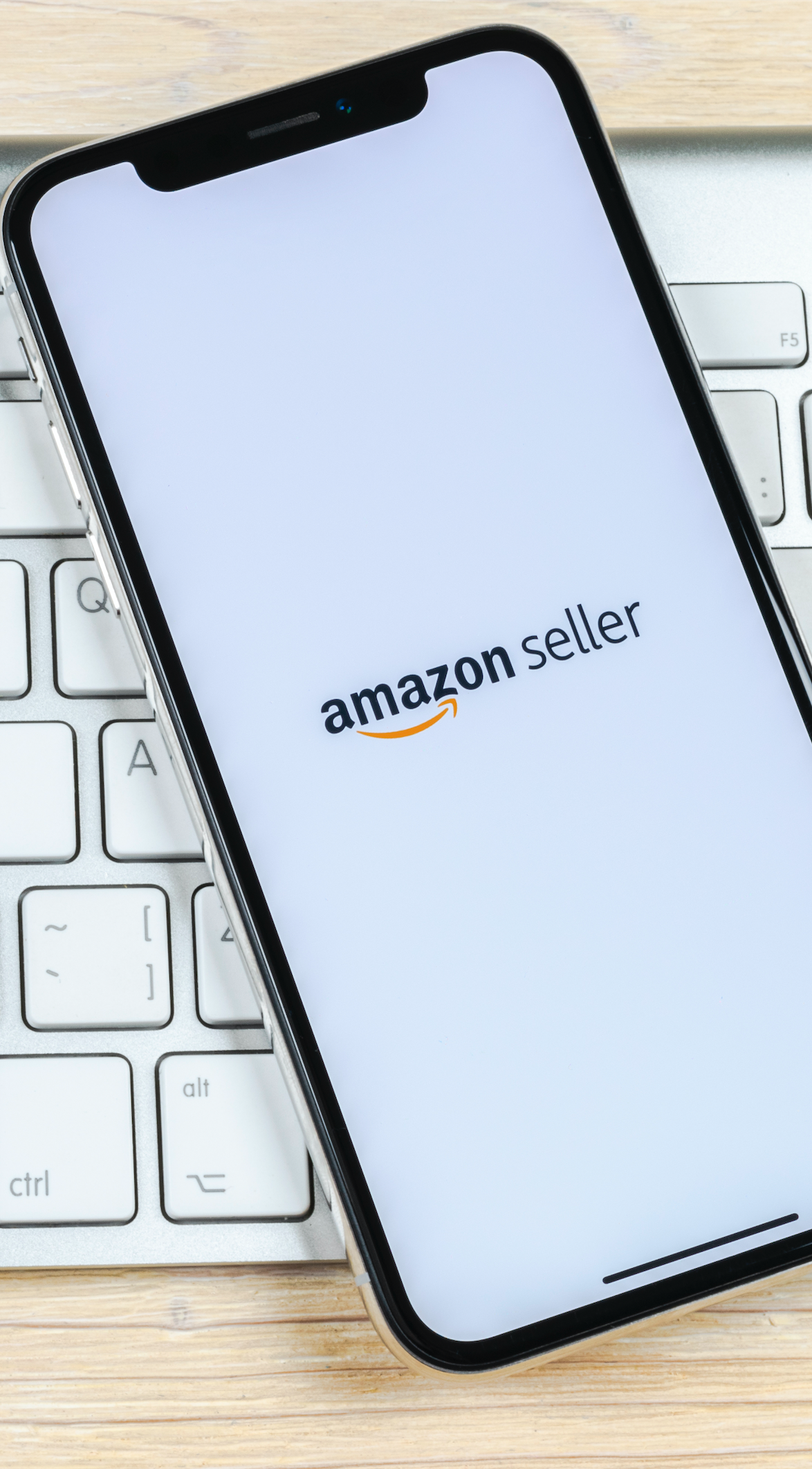 Amazon seller mobile app on iphone screen
