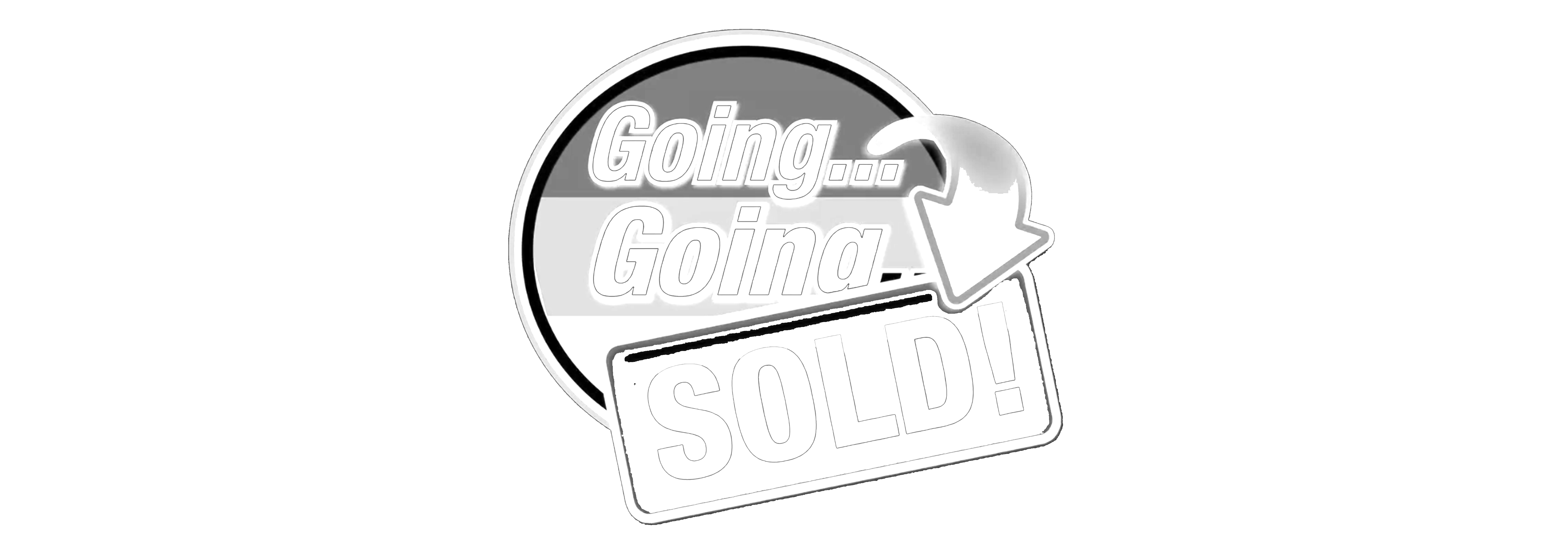 Going going sold graphic